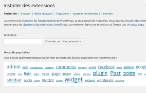 Installer des plugins wordpress