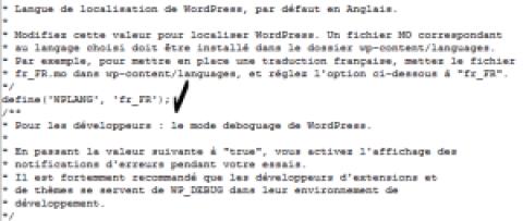 Comment traduire wordpress en français lorsque celui-ci est installé en anglais