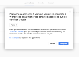 Wordpress Google+ en mode public