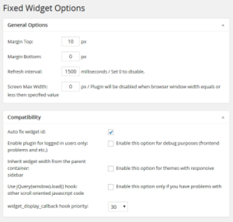 Rendre les widgets wordpress flottants (fixes)