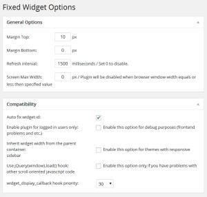widgets wordpress flottants