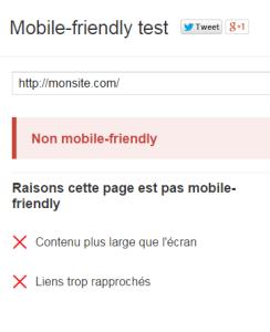 Site non mobile-friendly