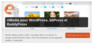 Plugins WordPress Buddypress médias