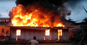 Incendie à Libreville