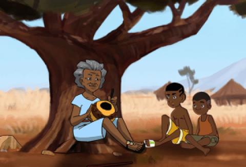 L'arbre à Palimpseste: dessin animé africain