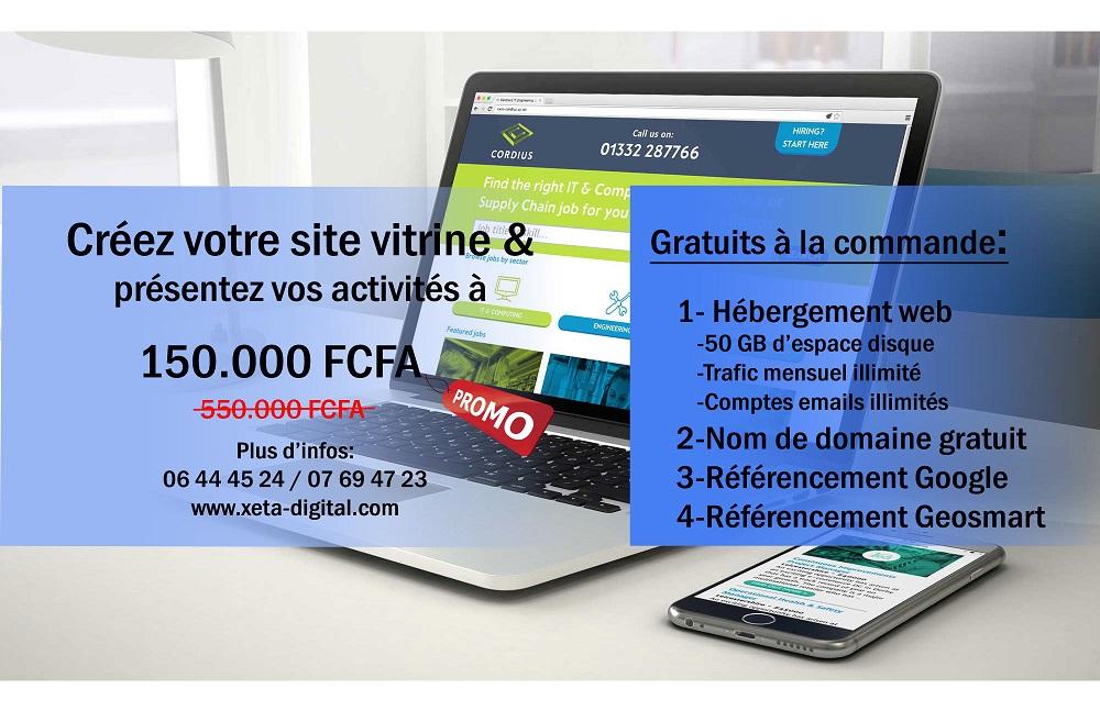 Créer un site web au Gabon moins cher