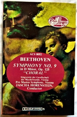 Beethoven Symphony No 9 In a Mino, Op 125 Choran Audio Cassettes