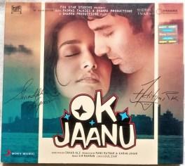 Ok Jaanu Hindi Audio Cd By A.R. Rahman