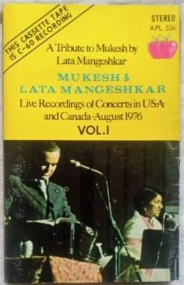A Tribute Mukesh By Lata Mangeshkar Vol 1 Hindi Audio Cassettes