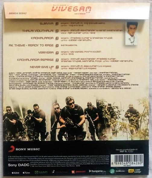 Vivegam Tamil Audio cd By Anirudh Ravichander (1)