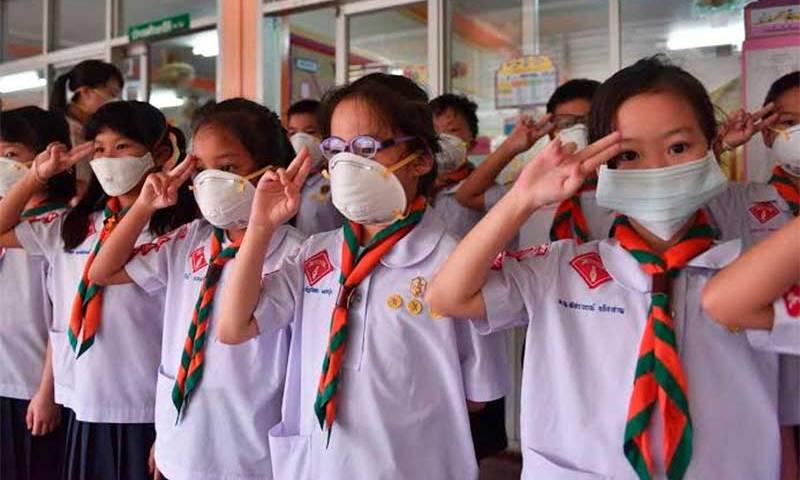 Mais de 400 escolas são fechadas em Bangcoc devido à poluição do ar