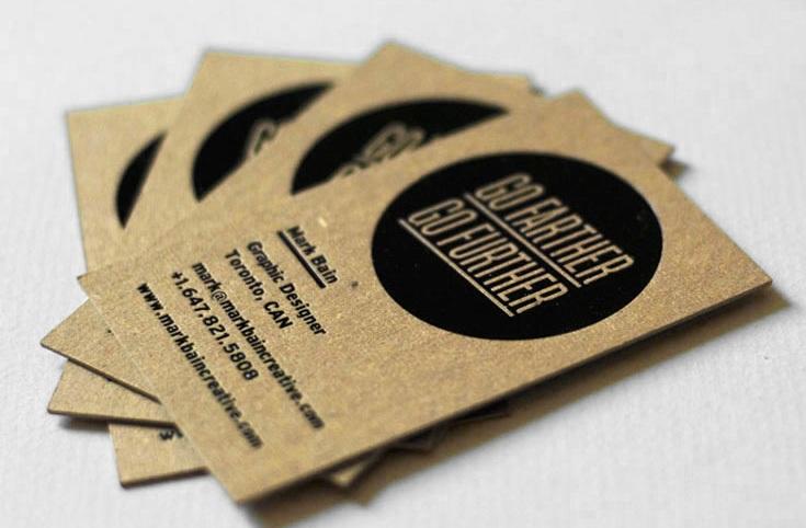 Thiết kế name card bằng giấy kraft