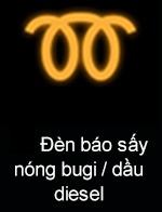 Đèn báo đợi sấy nóng bugi (đối với xe máy dầu)