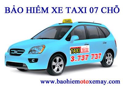 Bảo hiểm TNDS bắt buộc xe taxi 07 chỗ