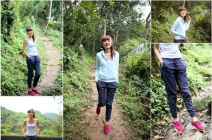【穿搭】百吉林蔭步道登山趣♥穿上UNIQLO牛仔束口褲打造夏日休閒時尚感