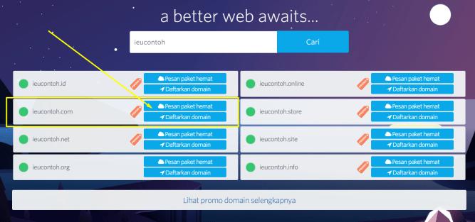 cara beli hosting dan domain murah