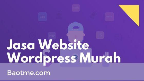 Jasa Website Wordpress Murah