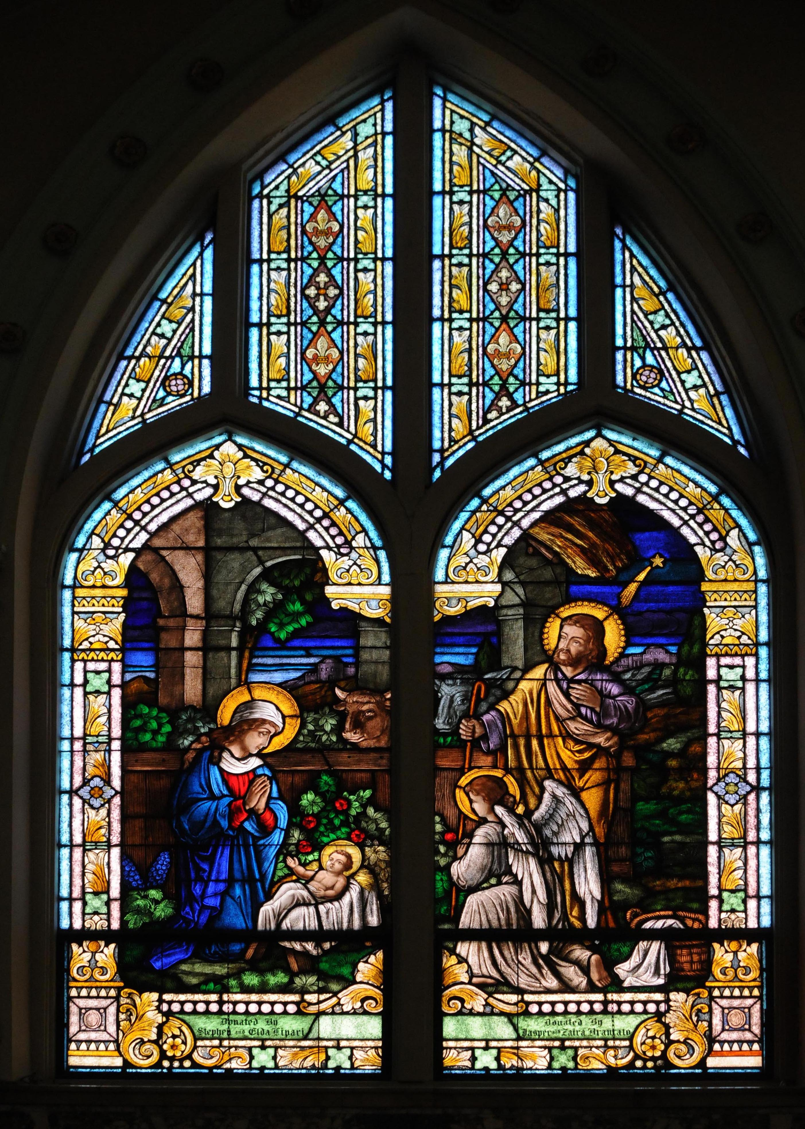 Holy Rosary Church Inspired Glass