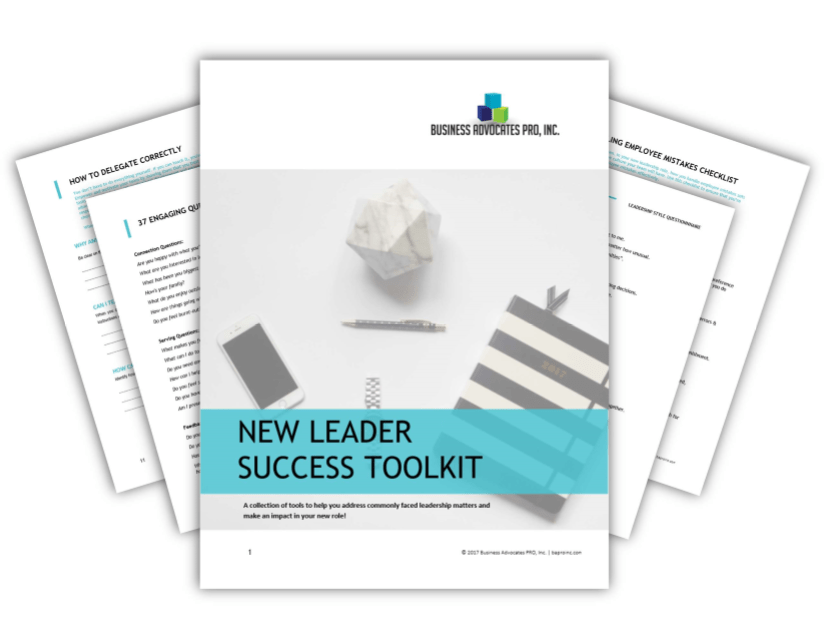 New Leader Success Toolkit | BA PRO, Inc.