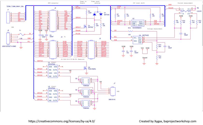 ATXPiHat Circuit Design