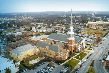 Aerial view of First Baptist Church, Spartanburg, site of the 2015 South Carolina Baptist Convention annual meeting Nov. 10-11.
