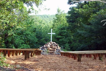 The Prayer Garden at Camp Marietta, a favorite gathering spot for campers.
