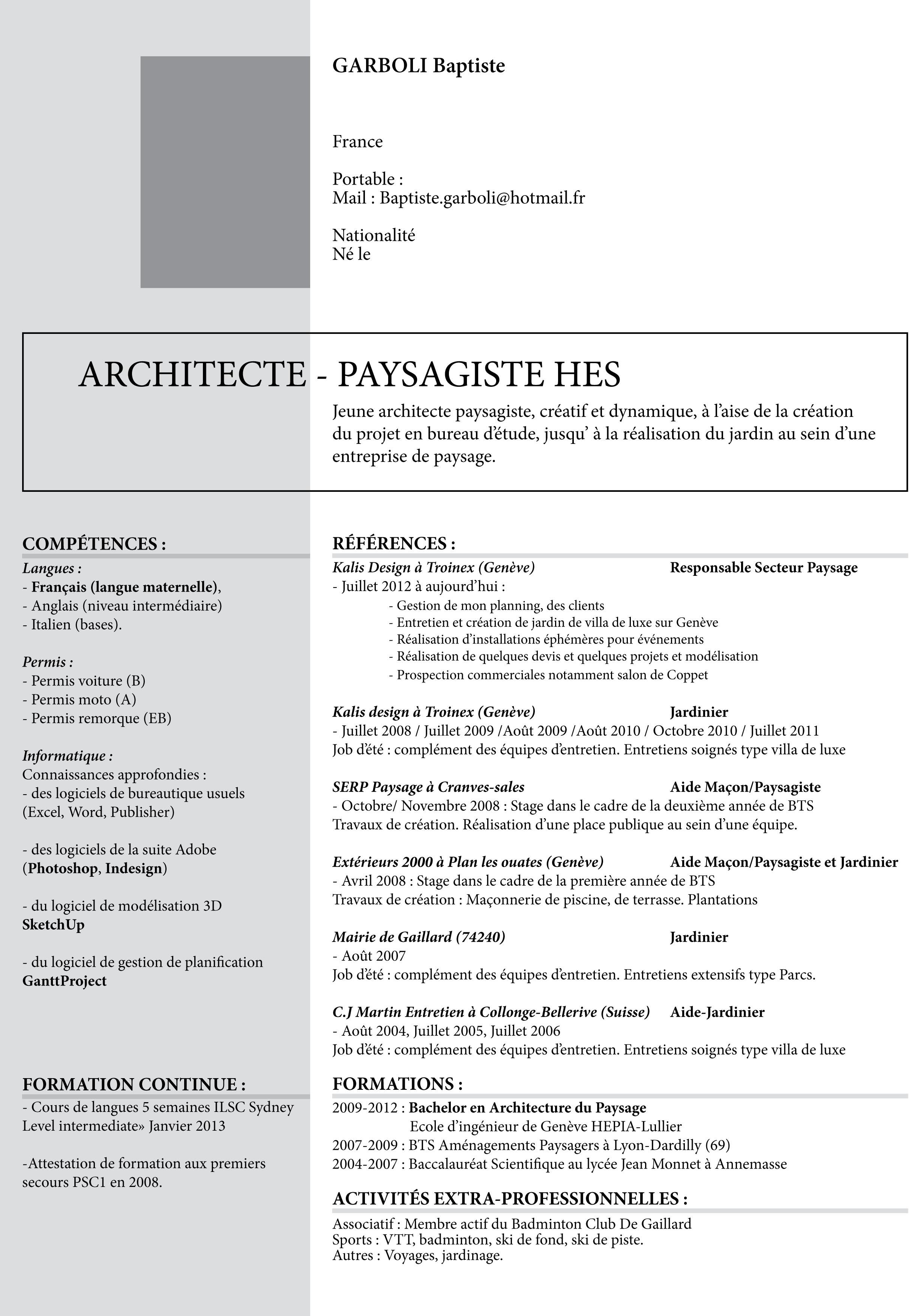 Curriculum Vitae Portfolio
