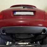 Audi A4 B6 – Końcówki wydechu montowane w zderzaku