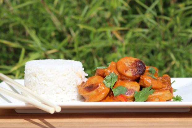 Thai Currywurst aus dem Wok - Wokwurst