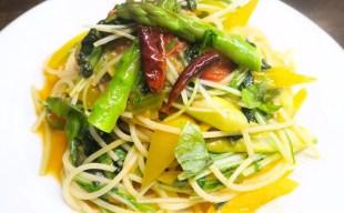 ベジタリアンの方にもおすすめ~9種類の野菜が食べられるベジタブルパスタ