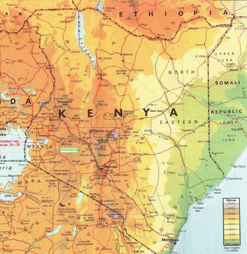 Kenia Landkarte