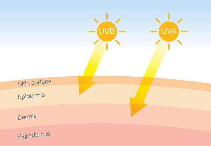 أنواع الإشعاع الشمسي.