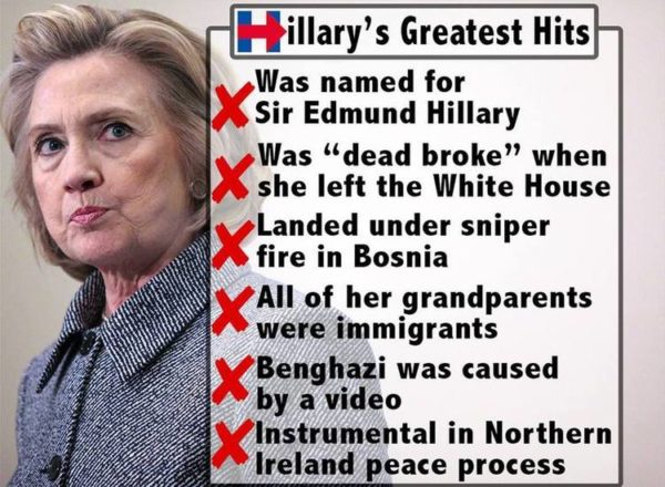 Hillary Clinton Is A Pathological Liar