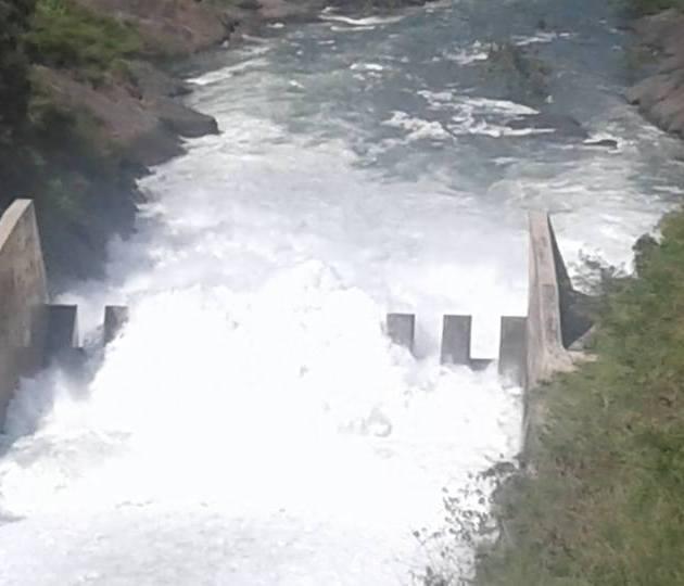 Desaguan presa Tavera por huracán María