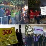 Grupo protesta contra Leonel Fernández