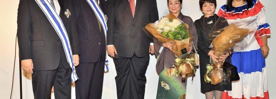 Condecoran exembajadores japoneses en RD