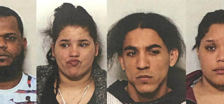 Cuatro esposos presos por tráfico de drogas