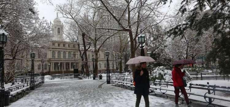Ocurre mayor nevada abril en 36 años