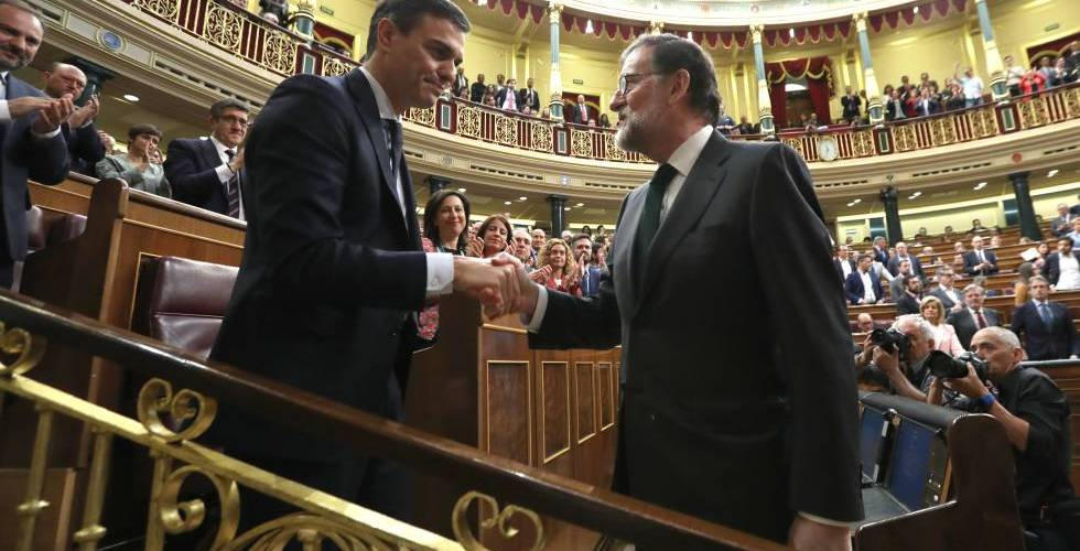 Pedro Sánchez sustituye a Rajoy