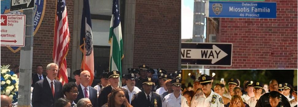 Rinden tributo a mujer policía asesinada
