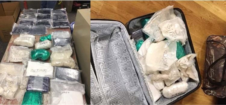 Apresan cinco dominicanos cargaban drogas