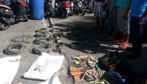 Apresan hombres sustrajeron cables eléctricos