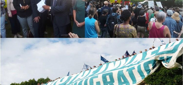 Espaillat lidera protesta contra el Klu Klux Klan