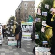 Hacen árbol navideño contra corrupción
