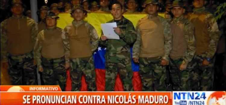 Alegados militares apoyan oposición venezolana