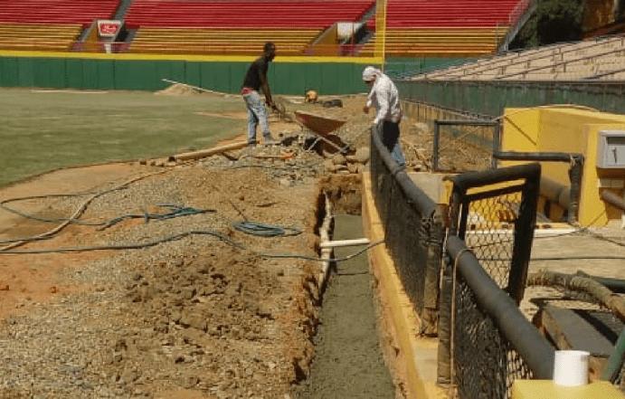 AC comienzan el arreglo de estadio