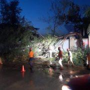 Ventarrón provoca daños en sectores santiagueros
