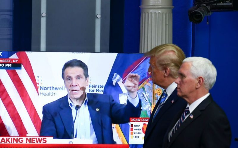 Trump y Cuomo analizan la reapertura economía en NY