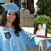 Dedica diploma a padre murió por virus en NY