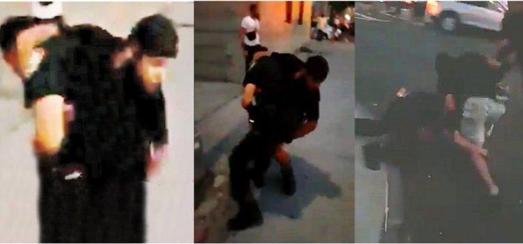 Alegado pandillero dominicano agrede policías
